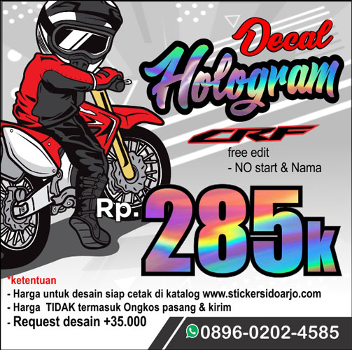 Sticker Decal CRF Hologram